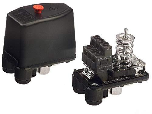 Drukschakelaar/drukregelaar PMA/12 voor compressor incl. Aan/uit-schakelaar (1/4 inch IG wartelmoer).