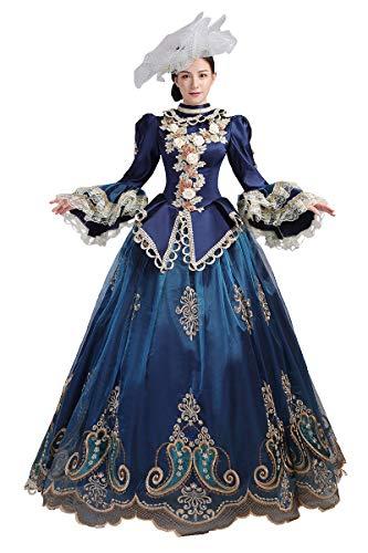 High-End Court Rokoko Barock Marie Antoinette Ballkleider 18. Jahrhundert Renaissance Historische Periode Kleid Gewand für Damen - - X-Groß