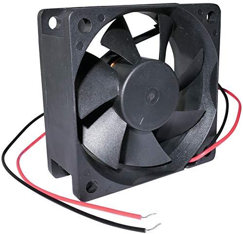 AERZETIX - Ventilador Axial de Refrigeración - para Caja de Ordenador PC - Deslizante - Termoplástico - 12V DC - 60x60x25mm - 27.04m3/h - 3100rpm - 0.06A - 0.77W - 16.7dBA - C46913