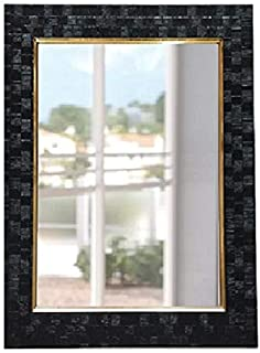 SEVEN HORSES Glass Wall Mirror (15 x 21 inch, Black)
