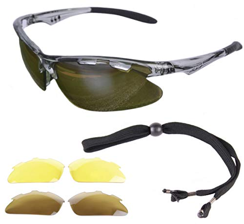 Rapid Eyewear Fore Lunettes DE Soleil Golf avec interchangeables. pour Hommes et Femmes. Une Protection Anti reflet UV 400