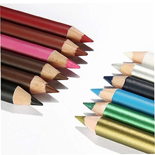 Heall 12 Farben Ultra Thin Lip Liner Bleistiftset Eyeliner Lidschatten Stift Kosmetik Make-up Kit Multifunktionale Lip Liner Augen Make-up-Tool Makeup Supply