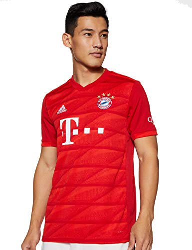 adidas Herren FC Bayern Home Jersey 2019/20 Trikot, FCB True Red, 3XL