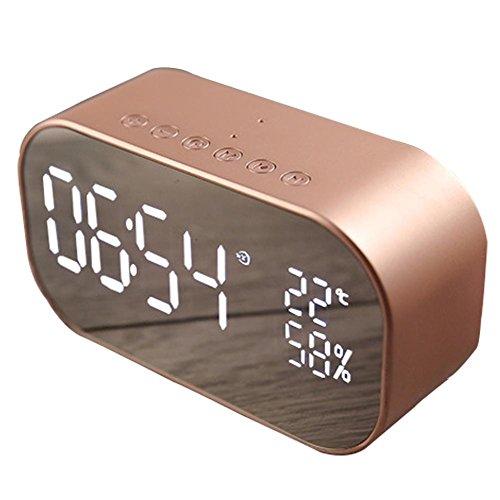 Radio Despertador Para Dormitorio Con Altavoz Inalámbrico Bluetooth, Reloj Despertador Digital USB, Pantalla LED Con Pantalla De Temperatura, Temporizador Para Dormir En Dormitorio Para Dormir Pesado