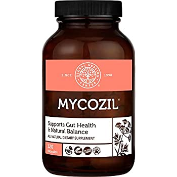 Global Healing Mycozil - Vegan Supplement Supports Detoxification for Natural Candida Cleanse Encourages Gut and Vaginal Health and Rids of Harmful Organisms & Overgrowth Women & Men - 120 Capsules