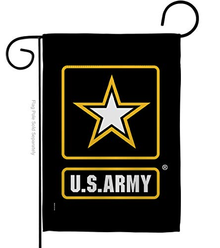 US Army United State Army Star House Flag Armed Forces Rangers Official Licensed American US Military Veteran Retire Decorative Gift Large Home Garden, Double Sided Banner 13' x 18.5' Made USA