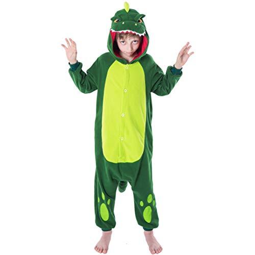 Spooktacular Creations Unisex Child Pajama Plush Onesie One Piece Dinosaur Animal Costume (10-12 yr)