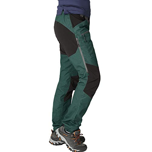 ZOOMHILL Mens Pro Hiking Stretch Pants Cargo Trouser Water-Resistant Tactical Outdoor Working Pants (Dearkes Spruce, S)