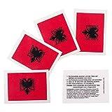 25 x Albanie Fan Tatouages - drapeau de la Albanie - tatouages temporaires (25)