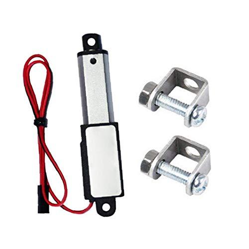 Hiinice Micro Actuador Lineal Eléctrico Mini Impermeable con Soportes De Montaje 12v 60n Longitud De Carrera De 30 Mm 15 Mm Velocidad De Alimentación Conveniente
