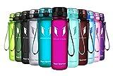 Super Sparrow Trinkflasche - Tritan Wasserflasche - 350ml & 500ml &750ml & 1000ml - BPA-frei - Ideale Sportflasche - Schnelle Wasserdurchfluss - Sport, Wasser, Fahrrad (Fuchsie, 350ml-12oz)