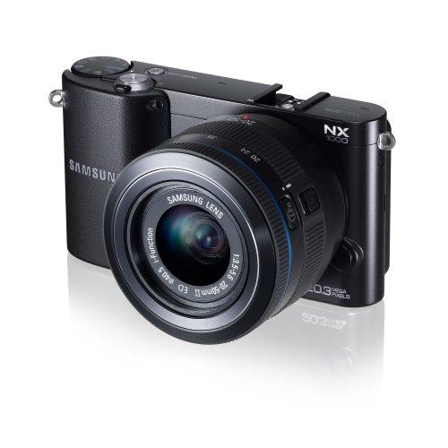 Samsung NX1000–Smart Kamera mit 20.3MEGAPIXELN (3-Zoll Display), Schwarz