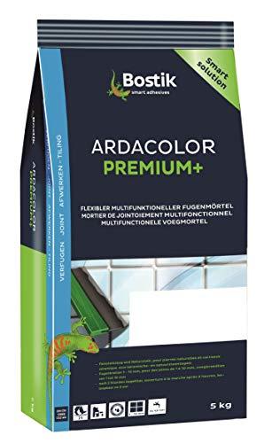 Bostik Ardacolor Premium Fuge plus Fliesen Naturstein Fugenmörtel 5Kg silbergrau