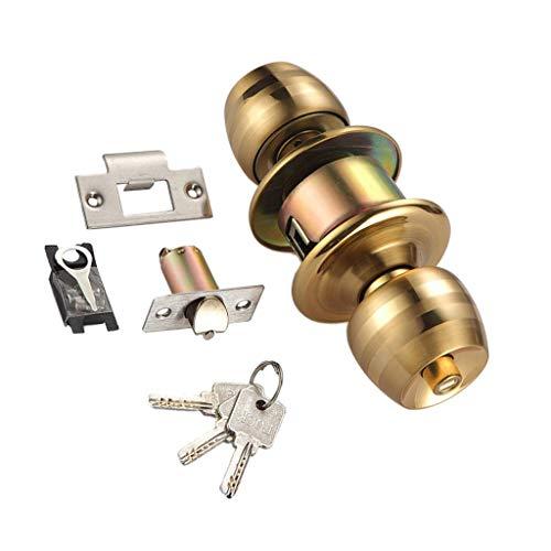 Backbayia Rund Türknauf Türschloss Innentür Kugelschloss mit Schlüssel für Zuhause, Büro (5cm - Bolzen)