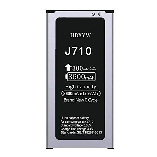 HDXYW Batería Compatible con Samsung Galaxy J7 2016 / J710, 3600 mAh, NO NFC Batería de Repuesto Mejorada para teléfonos móviles con Alta Capacidad