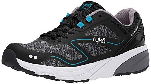 Ryka Women's Exuberant Walking Shoe, Black, 8 M US