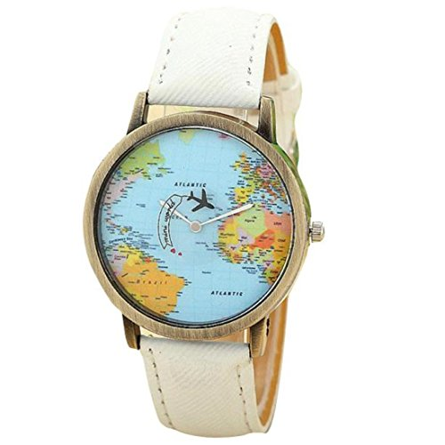 Xinantime Moda Global Travel Orologio Elegante Colore Bianco Donna