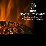 Klarstein Lausanne Vertical Elektro-Wandkamin (1000 oder 2000 W Leistung, elektrischer Heizlüfter, Flammenillusion, Flammen-Effekt, Dimmerfunktion, platzsparende Wandinstallation) schwarz - 5