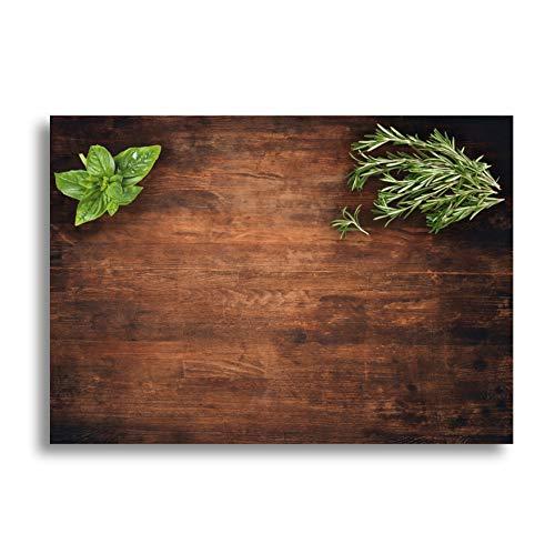 Werbeagentur Finkbeiner Tischset 50 Blatt - DIN A3 - Papier - Holzoptik - Blockleimung Perfekter Look für Feste und Grillparty - Kräuter