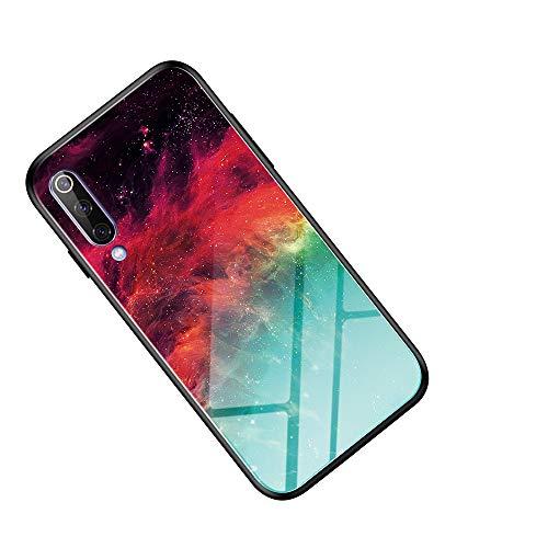 COGE Funda para Xiaomi Mi CC9e/A3,Después de un Vidrio Templado 9H, una Funda para teléfono de Vidrio Anti-caída ultradelgada, una Carcasa Dura de Silicona Suave-Cielo Estrellado.