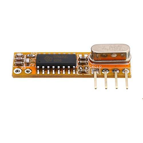 HDHUA Änderungszubehör 5pcs RXB12 433Mhz Superheterodyne Empfängerplatine Wireless Receiver-Modul mit hoher Empfindlichkeit