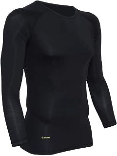 CWORKS 加圧シャツ スポーツインナー コンプレッションウェア トレーニングウェア メンズ 長袖