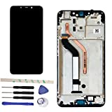 Draxlgon LCD Screen Replacement for Xiaomi Mi Pocophone F1 / Poco F1 M1805E10A 6.18' Display Digitizer Touch Screen Glass Panel Assembly (Black with Frame)