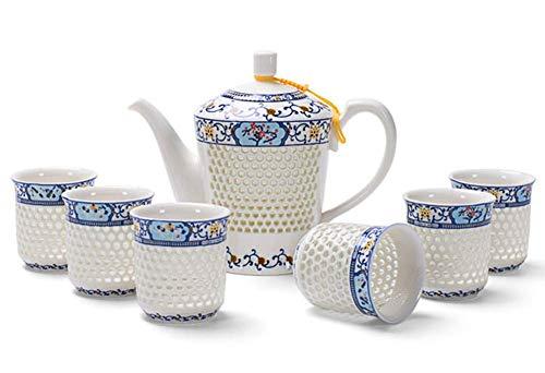 AABBC Hohlkeramik-Tee-Sake-Set Sake-Cup-Set mit wärmerer Geschenkbox-Verpackung