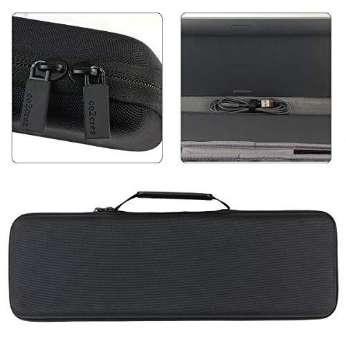 co2crea Hard Travel Case for Logitech MX Keys Advanced Wireless Illuminated Keyboard