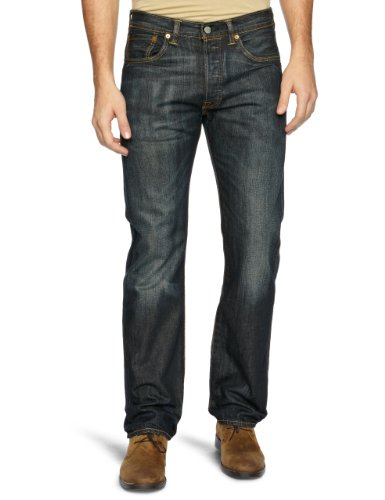 Levi's 501 Original Fit Jeans, Nero Dusty, 36W / 34L Uomo