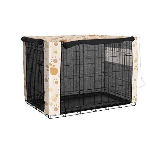 TUYU - Cubierta para cajón de perro a prueba de viento, poliéster a prueba de polvo, cubierta para jaula de alambre para protección interior y exterior 1910FCZ0115Y05