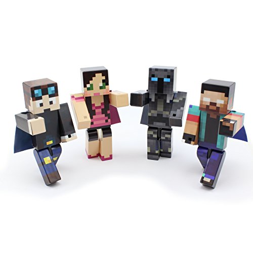 EnderToys Herobrine Bundle - 4-inch Plastic Toy Action Figure Set of 4