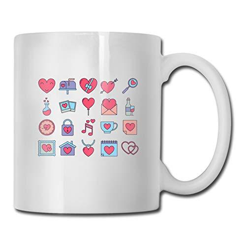 Taza de café divertida de 325 ml, ideal para usar en casa u oficina, ideal para regalo de San Valentín