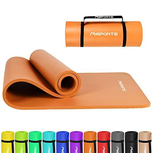 Gymnastikmatte Premium inkl. Tragegurt + Übungsposter + Workout App I Hautfreundliche Fitnessmatte 190 x 100 x 1,5 cm - Pumpkin Orange - Phthalatfreie Yogamatte