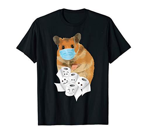 Hamster Maske Toilettenpapier Humor T-Shirt