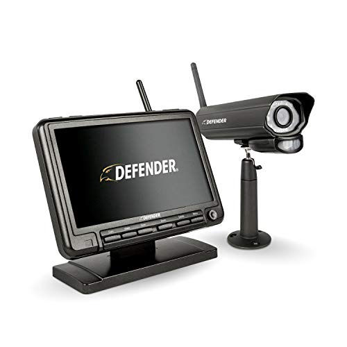Defender PhoenixM2 Security System - Indoor and Outdoor Wireless Security System Camera with LCD Screen - Business and Home Security System - Plug and Play, No WiFi Connection Required