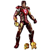 ZHI BEI Iron Man Avengers MK43 Adornos múltiples muñecas Multi-Juntas con Accesorios reemplazables adecuados