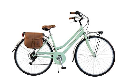 Via Veneto by Canellini Bicicleta Bici Citybike CTB Mujer Vintage Retro Via Veneto Acero (Vert Claro, 46)