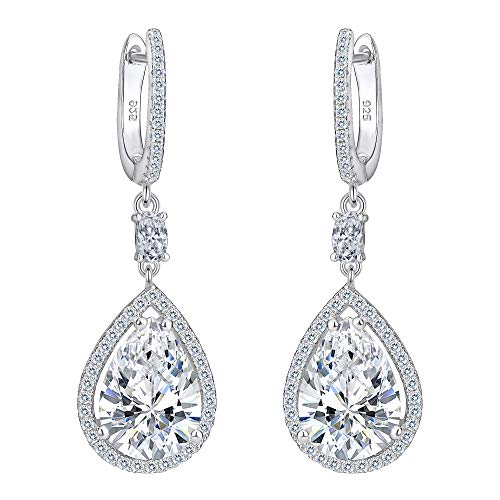 EVER FAITH® Women's 925 Sterling Silver Cubic Zirconia Wedding Tear Drop...