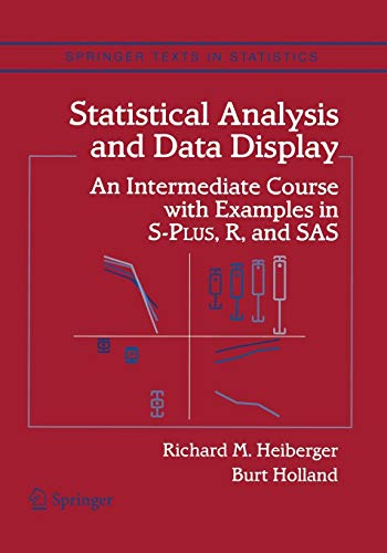"Statistical Analysis and Data Display: ""An Intermediate Course With Examples In S-Plus, R, And Sas"" (Springer Texts in Statistics)の詳細を見る"