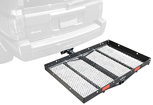 Pro Series 1040100 Solo Black 48' x 32' Hitch Mounted Cargo Carrier