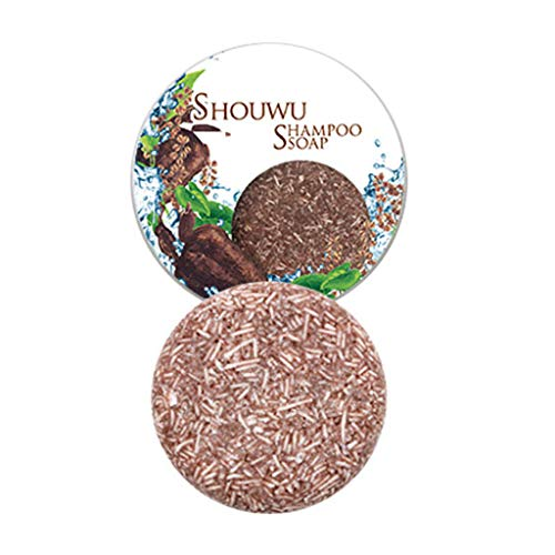 Barre de Shampooing Solid Shampoo pour Cheveux Shampoo Barre Végétalienne Plant Essence Shampoo pour cheveux gras cheveux secs et abîmés Aide à lutter contre les pellicules (Polygonum multiflorum)