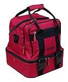 Acclaim Barnard Deluxe Nylon Four Bowl Level Lawn Flat Green Short Mat Locker Bowls Bag (Red/Black Trim)