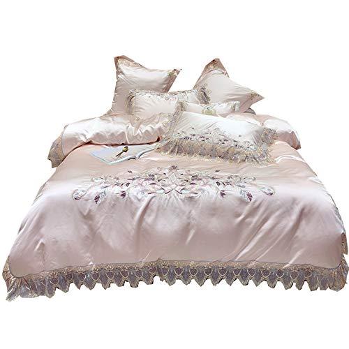 ZHAOYAN Spitze vierteilige langstapelige Baumwolle kleine frische Prinzessin Wind Bettwäsche