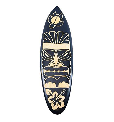 Tabla de surf de madera – Decoración de pared, diseño Tiki 50 cm