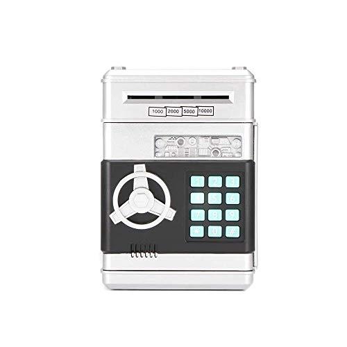 QWEA - Alcancía electrónica, Mini simulación, cajero automático, contraseña, Banco, Moneda en Efectivo, niños, Rollo automático, Caja de Ahorro de Dinero, Caja Fuerte de Dibujos Animados, ca