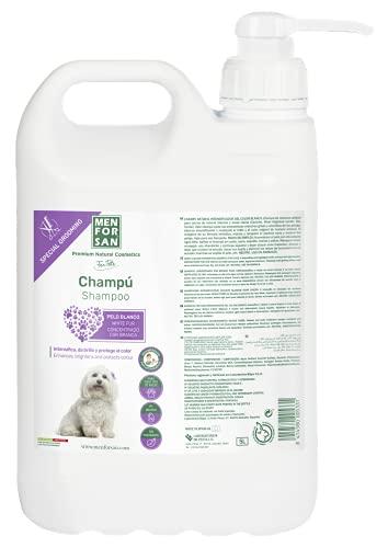 MENFORSAN Champú Pelo Blanco Perros - 5 Litros ⭐