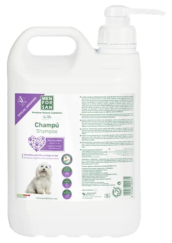 MENFORSAN Champú Pelo Blanco Perros - 5 Litros