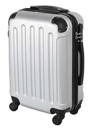 CABIN 5571 Valigia Trolley rigido in ABS grande valigia con ruote, Idoneo Ryanair e Easyjet 55x40x20, Bagaglio a Mano Ultra Leggero in ABS con Chiusura TSA