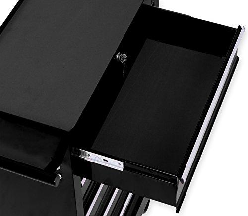 Masko® Werkstattwagen – 5 Schubladen, schwarz ✓ Abschließbar ✓ Massives Metall | Mobiler Werkzeug-Wagen ohne Werkzeug | Profi Werkstatt-Wagen | Rollwagen zur Werkzeugaufbewahrung mit Schloss | - 3